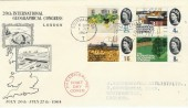 1964 Geographical Congess FDC, Phosphor Set ,Southampton Show T Slogan