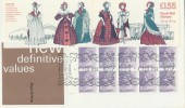1982 Women's Costumes 1830-50 £1.55 Booklet FDC, with Booklet Cover & Windsor H/S