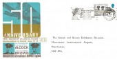 1969 Notable Anniversaries, Manchester Airport FDC, Manchester Salutes Alcock & Brown Slogan