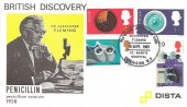 1967 British Discoveries, Dista Products FDC, Penicillin St. Marys Hospital H/S