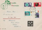 1967 British Discoveries, HQ 2nd Division Lubbecke BFPO 22 Forces FDC, FPO 39 cds.