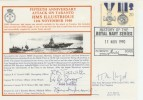 1990 50th Anniversary of the Attack on Taranto HMS Illustrious. Signed