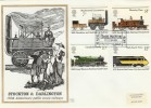 1975 Stockton & Darlington Railway, Benham Engraved FDC FDI Darlington Co.Durham H/S
