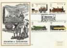 1975 Stockton & Darlington Railway, Benham Engraved FDC First Day of Issue Stockton on Tees