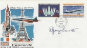 1968 New Hebrides Concorde FDC. Signed by R Granger Barrett Stamp Artist
