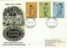 1973 County Cricket Benham Engraved FDC, Leicester FDI