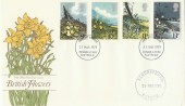 1979 British Flowers FDC, Kings Lynn FDI with Sandringham Estate Cachet