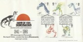 1991 Dinosaurs, Plymouth Museum Arlington Official FDC