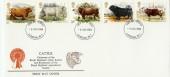 1984 British Cattle Historic Relics FDC London W1 FDI