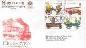 1974 Fire Service Merryweather Overprinted FDC