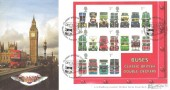 2001 Buses M/S, Bradbury Windsor Series No.5 Official FDC, Classic British Buses Westminster  London H/S
