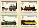 1975 Stockton & Darlington Railway, Set of 4 PHQ Cards used on Reverse. Special H/S's