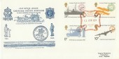 1974 UPU, Pilgrim Uniform Penny Post Reprint FDC, National Post Museum Maltese Cross H/S
