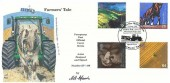 1999 Farmers' Tale, 4d Post Official Millennium FDC, Jethro Tull Reading Berkshire H/S, Signed by Cover Designer