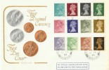 1971 ½p to 9p 12 values on Cotswold FDC, Oldland Common Bristol cds & Cachet FDC