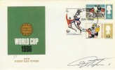 1966 World Cup FDC, Wembley FDI. Signed by Geoff Hurst