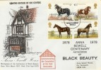 1978 Horses, Anna Sewell House Special Cover, Great Yarmouth FDI. Not Listed