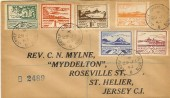 1943 Registered Plain FDC, 2½d & 3d Jersey Views + 4 Values issued Earlier