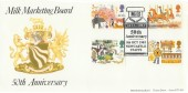 1983 British Fairs, Milk Marketing Board 50th Anniversary Official FDC, 50th Anniversary MMB Newcastle Staffs. H/S