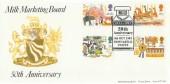 1983 British Fairs, Milk Marketing Board 50th Anniversary Official FDC, 50th Anniversary MMB Newcastle Staffs. H/S