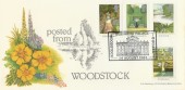 1983 British Gardens, Posted from Woodstock, Bradbury FDC