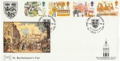 1983 British Fairs, St. Bartholomew's Fair Havering Official FDC, The Great  Priory Church St. Bartholomew's London EC H/S