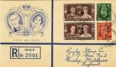 1937 King George VI Coronation, Ruislip Stamp Co. FDC