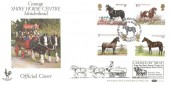 1978 Horses Benham BOCS 4 Courage Shire Horse Centre Official FDC, Courage Shire Horse Centre, Maidenhead, Berks. H/S