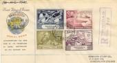 1949 UPU Trinidad & Tobago Set, on Registered Illustrated FDC, Registered G.P.O P.O.S.Trinidad cds