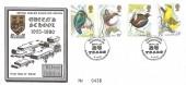 1980 British Birds, Queen's School Rheindahlen Official FDC. Scarce