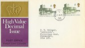 1995 Last Day Cover of the £1 Carrickfergus Castle High Value Definitive