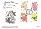 1976 Roses, Northampton Philatelic Society Official FDC, Year off the Rose Northampton H/S