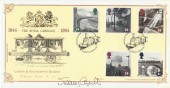 1994 Age of Steam, Bradbury Victorian Print No.82 Official FDC, signed by Jenny Agutter