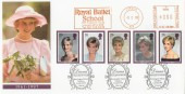 1998 Diana Princess of Wales, Royal Mail FDC, Royal Ballet School Meter Mark, Kensington