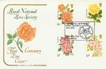 1976 Roses, Cotswold FDC, The Royal National Rose Society St.Albans H/S