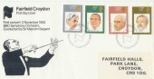 1980 British Conductors BBC Orchestra on Fairfield Halls Croydon Official FDC