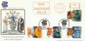 1994 Medical Discoveries, BMA Official FDC, Smoking Kills Meter Mark