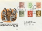 1982 5p to 29p Definitives, Benham Engraved FDC, Windsor Berks. H/S