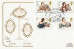 1980 Famous People, Cotswold FDC, Charlotte & Emily Bronte Haworth H/S