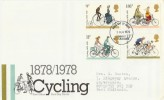 1978 Cycling Centenary, PO FDC, Coventry FDI, First British Bicycle Production 1870