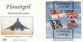 2001 Flags & Ensigns, Havering Official Flowergirl Concorde FDC