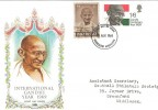 1969 Gandhi, Philart FDC, with Indian Gandhi Franked with GB Stamp. RARE