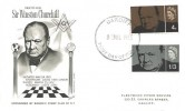 1965 Churchill Masonic Stamp Club of New York Special FDC Cardiff FDI
