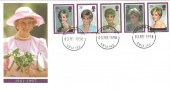 1998 Diana Princess of Wales, Royal Mail FDC, Buckingham Palace cds. Scarce