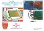 2004 Northern Ireland, Set on Pair of Dawn Official Football FDC, Arsenal FA Cup Winners 2003 In Europe Again H/S