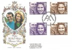 1973 Royal Wedding, Philart FDC Gutter Pairs, Westminster H/S