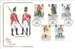 1985 Alderney, Regiments of the Alderney Garrison Cotswold FDC, Superb