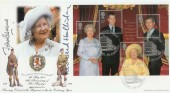 2000 Queen Mother's 100th Birthday Clarence House SW1 Bradbury FDC. Signed