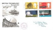 1966 British Technology, Phosphor set Stuart FDC, Southampton T Cancel