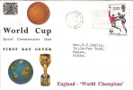 1966 England World Cup Winners Connoisseur FDC with Country Code Keep your Dog Under Control Slogan